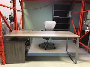 IOF Benching with Drop Down Credenza - Brand New