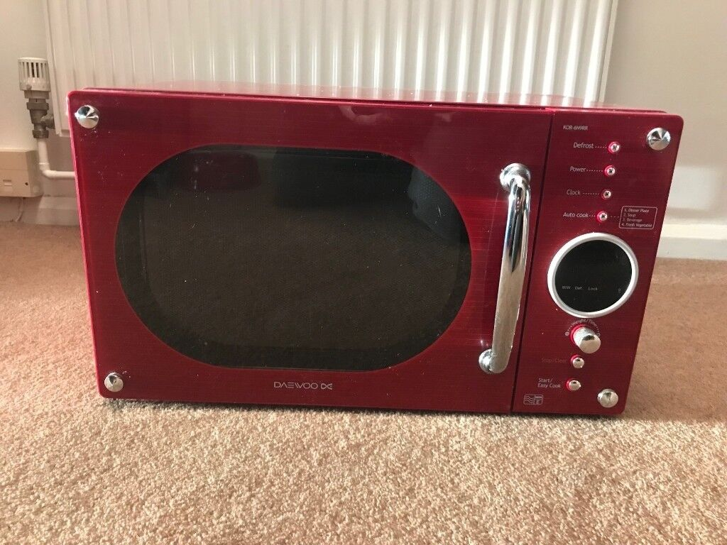 RED RETRO Daewoo KOR6N9RR 20 Litres 700 Watts 10 Levels Manual ...