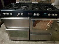 STOVES 110cm Gas and electric RANGE COOKER stainless steel in good working order and condition