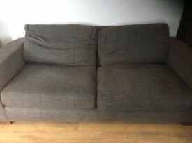 M&S 3 seater sofa, brown/grey - good condition