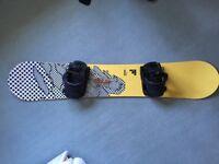 Bataleon the jam 160 snowboard with flow bindings