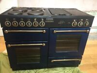 Navy Blue and Gold coloured Rangemaster 110 Cooker