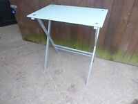 Frosted Glass Topped Small table Delivery Available