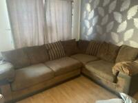 Corner sofa and cuddle chair drs