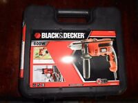 Black & Decker KR 604 Corded KEYLESS Hammer Drill 600W