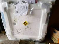 Square cast stone shower tray-brand new