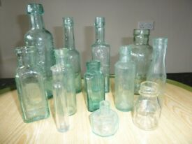 Vintage bottles and jars