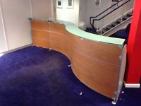 Office Reception Counter and Desk. Very good condition