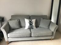 Bespoke Grey Sofa with Cushions. Collection Only.