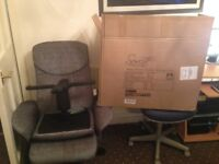 Recliner massage chair silver. Excellent condition, Only 1 Month old barely used. Already built.