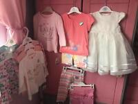 bundle of brand new 6-9 month baby girl clothes