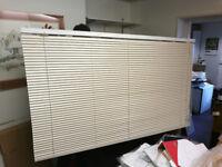 Venetian Blind new LUXAFLEX 50mm unused wood-slat Cream colour 178 wide x 105 drop