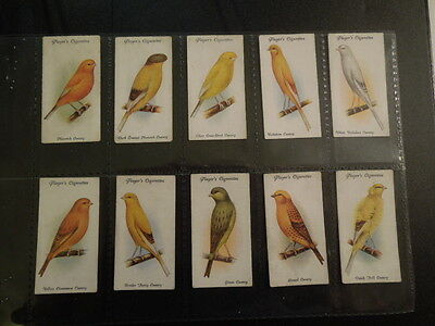 1933  AVIARY &  CAGE BIRDS Complete Parrot Canary Tobacco Card Set of 50 cards