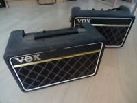 Vox Escort battery/mains powered busker's amp (70s) x 2