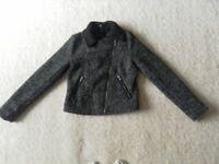 H&M Wool-blend Biker Jacket . Size 8 Excellent condition