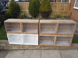 Double finch/canary cages