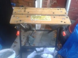 black and decker workmate-good working order bench worktop vice wooden ,wood support grip