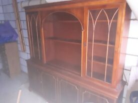 G Plan Table TV And DVD Cabinet Glass Dresser