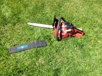 Sovereign petrol chainsaw. In very good condition and good working order.