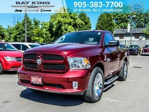 "2016 Ram 1500 ST, 20"" CHROME WHEELS, BLUETOOTH, 5.7L HEMI V8"