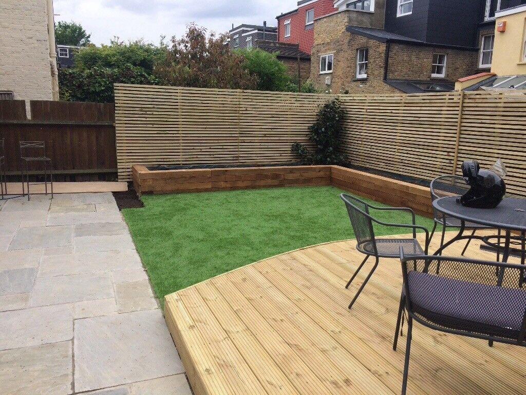 Landscape gardener decking paving fencing walls lawns for Garden decking gumtree