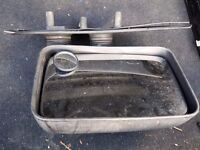 CITROEN RELAY/FIAT DUCATO 94-98 RH DOOR WING MIRROR MANUAL BLACK SH-ARM