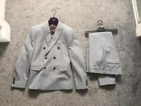 Next men's 2 piece suit in grey