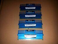 16GB (4x 4GB) Corsair Vengeance Memory Kit PC3-12800 1600MHz CMZ16GX3M4A1600C9B