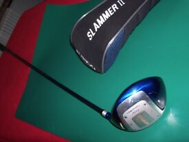 DONNAY SLAMMER II RIGHT HANDED 11.5 DEGREE DRIVER PERFORMANCE GRAPHITE SHAFT. FLEX-STIFF REINFORCED.