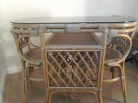 Bistro set dining table and two chairs