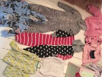 GIRLS ONESIE PJS BUNDLE.NEXT.MARKS.LITTLE WHITE CO ETC AGED 6-7-8 brentwood £13 only