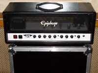 Epiphone SoCal 50 watt valve amplifier head designed by Gibson, split channel with reverb