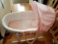 Baby Moses basket only used for a month