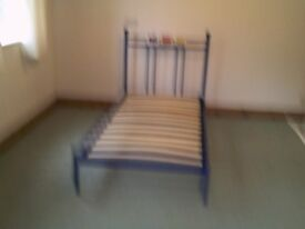 BLUE Single Metal Bed frame ( suit boy child ) Sorry No Mattress ,,