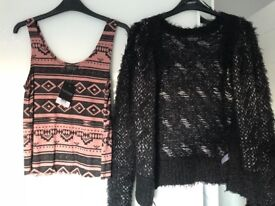 Topshop top and jacket size 6