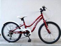 "(2700) 20"" 10"" APOLLO IVORY GIRLS MOUNTAIN HYBRID BIKE BICYCLE Age: 6-8 Height: 117-132 cm"