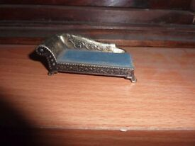 dolls house? Antique curio collectible vintage old chaise longue, unsure of metal / silver no marks