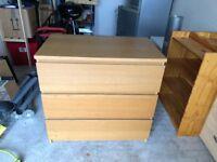 3 drawer bedroom cabinet