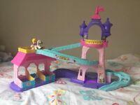 Fisher Price Little People 'Klip Klop Palace' princess castle play set w/ rapunzel on horse / pony
