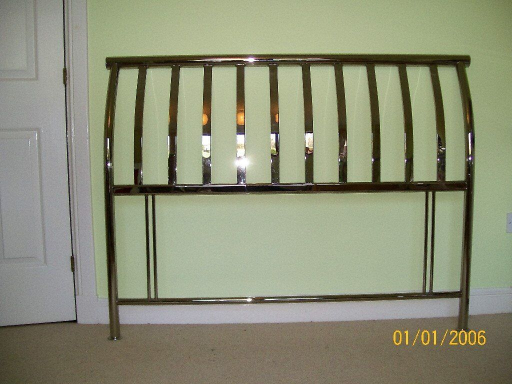 Chrome double bed headboard