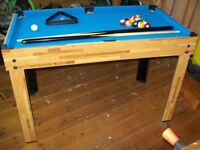 Pool Table, Air Hockey and other games all in one.