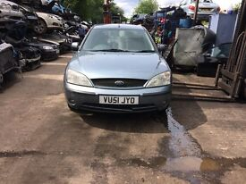 2001 Ford Mondeo Zetec 5dr Hatchback Petrol 2L Blue BREAKING FOR SPARES