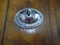 Vintage (1950's) Chrome & Glass Butter Dish with glass Liner