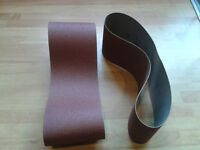 "Belts for a belt sander 100mm(4"") and 75mm(3"") Quite a few different grades"