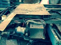 Tipper trailer landrover project chassis