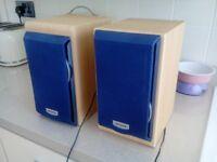 pair of retro aiwa speakers