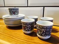 5 Gural porcelen espresso cups and saucers