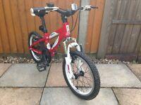 Carrera Blast Alluminium Boys Red Bike 16inch