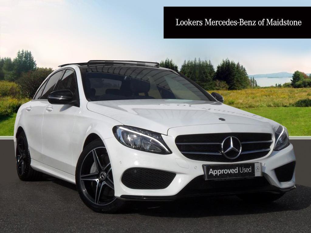 Mercedes-Benz C Class Diesel Saloon AMG Line (white) 2017-09-01