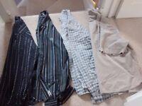 Selection of mens shirts